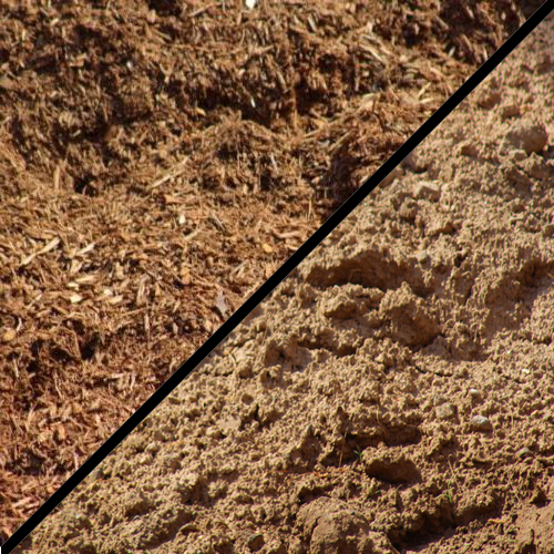 Mulch and Clay Product Section